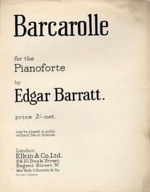 Barcarolle - For the Pianoforte