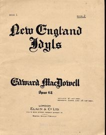 New England Idyls - Op. 62 -  A series of 10 scenes - Book 2 - Scenes 6 to 10