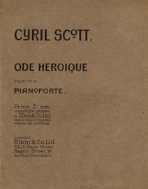 Ode Heroique - for the Pianoforte