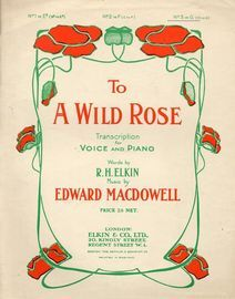 To A Wild Rose - Key of G major for higher voice