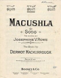 Macushla - Key of A Flat major for medium voice