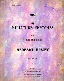 4 Miniature Sketches for Violin and Piano
