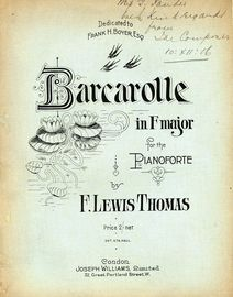 Barcarolle in F major - For the Pianoforte