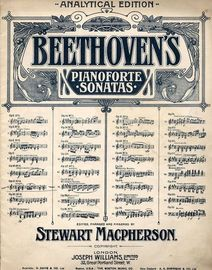 Sonata in F major - Op. 10, No. 2 - Beethoven Pianoforte Sonatas Series No. 6 - Analytical Edition