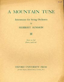 A Mountain Tune - Intermezzo for String Orchestra