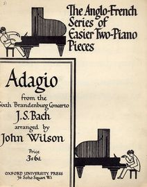 Adagio from the Sixth Brandenburg Concerto - Two Pianos, Four Hands - The Anglo French Series of Easier Two-Piano Pieces