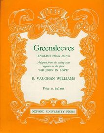 Greensleeves - English Folk Song - Adapted from the setting that appears in the opera