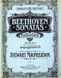 Beethoven - Sonata in C minor -  Op. 10, No. 1 - Analytical Edition - Beethoven Pianoforte Sonatas Series No. 5