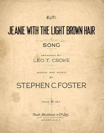 Jeanie with the Light Brown Hair  - Song- In the key of F major
