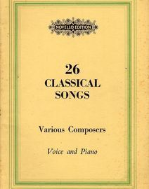 26 Classical Songs by Various Composers - Voice and Piano - School Song Books Series No. 240