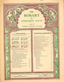 The Rosary - Key of D flat major for Soprano or Tenor