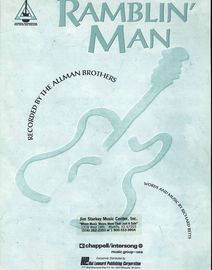 Ramblin' Man - Recorded by The Allman Brothers - Piano - Vocal - Guitar