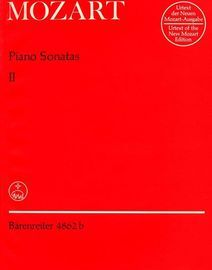 Mozart Piano Sonatas - Volume 2 - Urtext of the New Mozart Edition - Barenreiter Edition No. 4862b