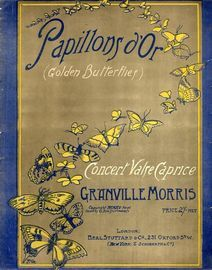 Papillons d'Or (Golden Butterlies) - Concert valse Caprice for Piano Solo