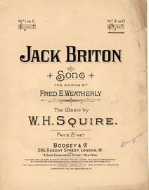 Jack Briton - Song - In the key of D major for high voice