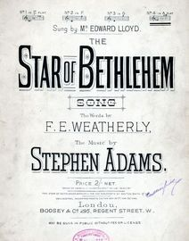 The Star of Bethlehem - Song - In the key of A flat major for High voice