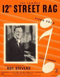 12th Street Rag - Piano Solo - Featured and Broadcast by Roy Stevens