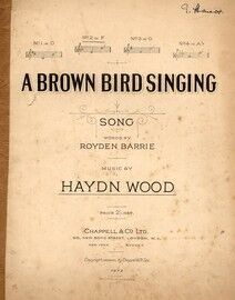 A Brown Bird Singing - Song in the Key of F major