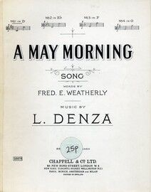A May Morning - Song - In the key of D major for low voice