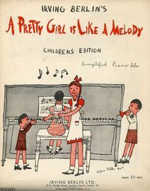 A Pretty Girl is Like a Melody - Children's Edition - Simplified Piano Solo