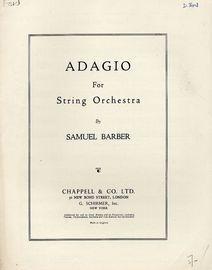 Adagio - For String Orchestra