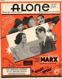 Alone - Song Featuring The Marx Brothers, Joe Loss, Allan Jones & Kitty Carlisle - From 'A Night At The Opera'
