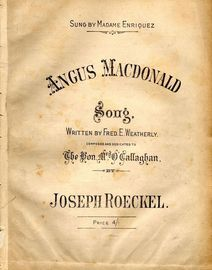 Angus Macdonald - Sung by Madame Enriquez - Song in the key of F major
