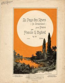 Au Pays des Reves (In Dreamland). For piano solo, illustration Philip Greaves