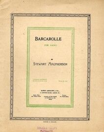 Barcarolle for piano