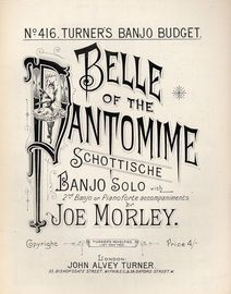 Belle Of The Pantomime schottische -  Banjo Solo with 2nd Banjo or Pianoforte accompaniments
