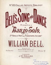 Bells Song and Dance - Arranged as a Banjo Solo, with 2nd Banjo Part and Pianoforte Accompaniment