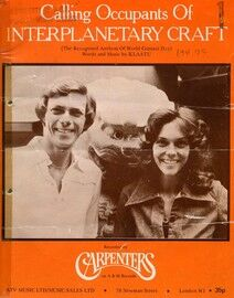 Calling Occupants of Interplanetary Craft: The Carpenters