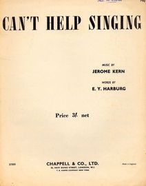 Can't Help Singing - As performed by Deanna Durbin