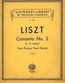 Concerto No. 2 in A major - Two Piano, Four Hands - Schirmers Library of Musical Classics Vol. 1058