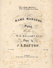 Dame Margery, song, No. 1 in C for A bass voice