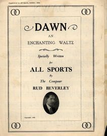 Dawn, a waltz specially written for All Sports