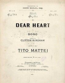 Dear Heart - Song in the key of D major for medium voice
