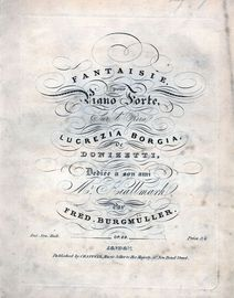 Fantaisie for piano from Lucrezia Borgia by Donizetti