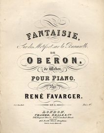 Fantaisie from Weber's Oberon - Piano Solo