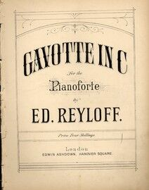 Gavotte In C, for piano