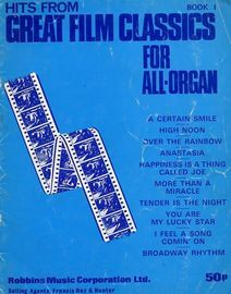 Hits from great film classics Book One,  for all organs,  arranged by Russ Taylor