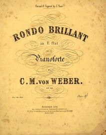 Il Moto Continuo. Rondo Brilliant for piano solo. Revised and fingered by E Paur