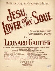 Jesus Lover of My Soul. With variations for piano