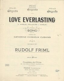 Love Everlasting (L'Amour, Toujours L'Amour) - Song in the key of D major for high voice