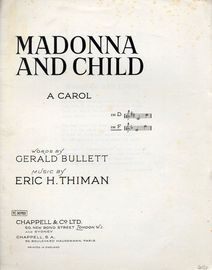 Madonna and Child - A Carol in the key of F major for higher voice