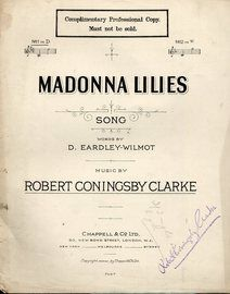 Madonna Lilies - Song in the key of D Major for Low Voice - Professional Copy