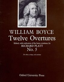 No.5 from Twelve Overtures, for oboes, strings and continuo, edited with realization of the basso continuo