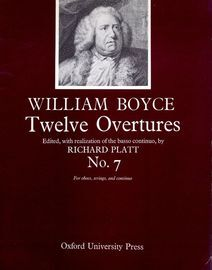 No.7 from Twelve Overtures, for oboes, strings and continuo, edited with realization of the basso continuo