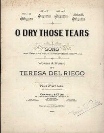 O Dry those Tears - Song in the key of A major for High Voice with organ & violin (or violoncello) accompaniment adlib, sung by Alice Gomez,
