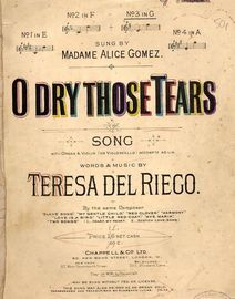O Dry Those Tears - Song in the key of A major for High Voice
